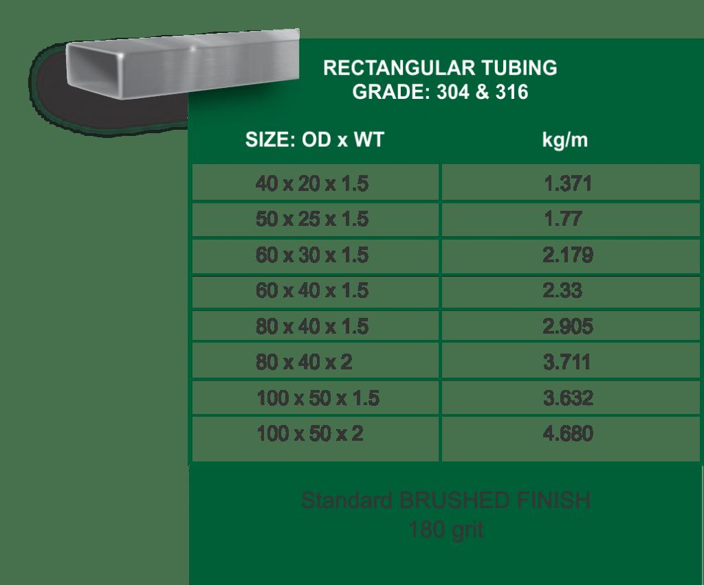 rectangular-tubing-table-1024x852 Stainless Steel Ornamental Tubing