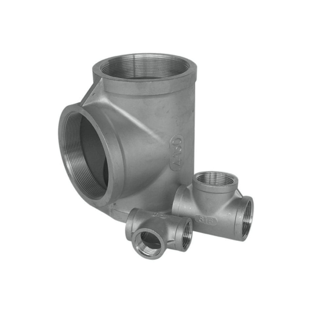Tees Stainless Steel 150 LBS BSP Tees