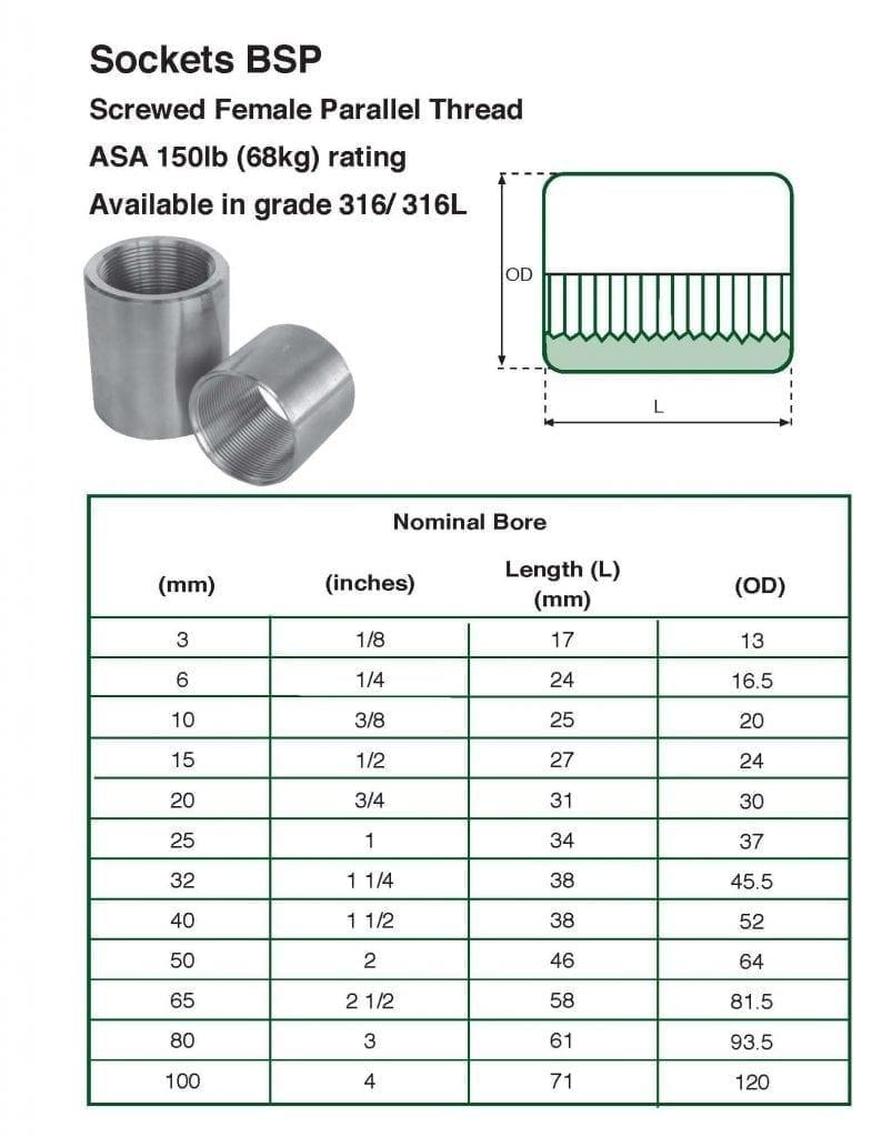 sockets-tbl-803x1024 Stainless Steel 150 LBS BSP Sockets
